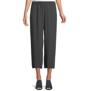 Eileen Fisher Silk Crepe Straight Cropped Pant